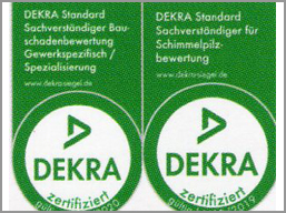 DEKRA Logo - Dr.-Ing. N. Colditz - Energie- und Trocknungstechnik zertifizierter Sachverständiger